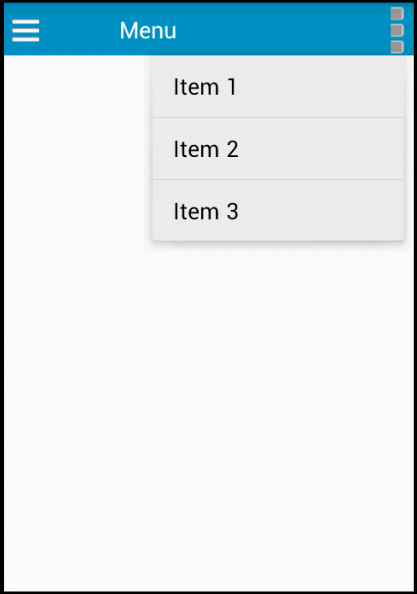 ActionBar with Menus in Android Xamarin