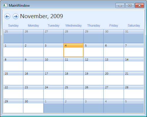 Styling the WPF Calendar to Resemble Outlook's Month View Calendar
