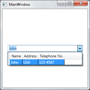 WPF Datagrid as ComboBox Dropdown Part 2