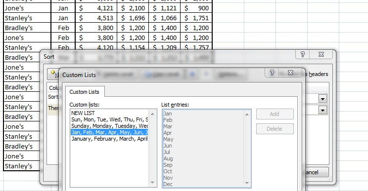 how to make a column follow when sorting in excel