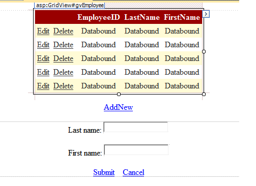 ASP NET Basics: GridView from Database with Paging, Sorting