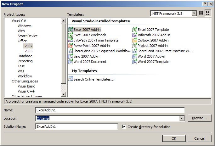 Using VSTO Add-In To Automate Frequent Excel 2007 Tasks